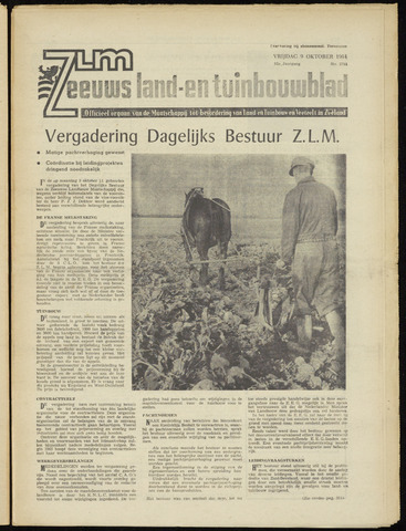Zeeuwsch landbouwblad ... ZLM land- en tuinbouwblad 1964-10-09