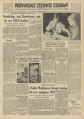 Provinciale Zeeuwse Courant 1954-04-17
