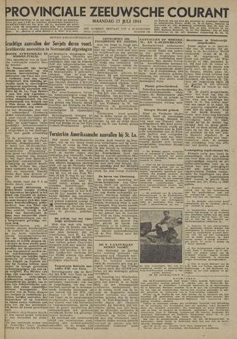 Provinciale Zeeuwse Courant 1944-07-17