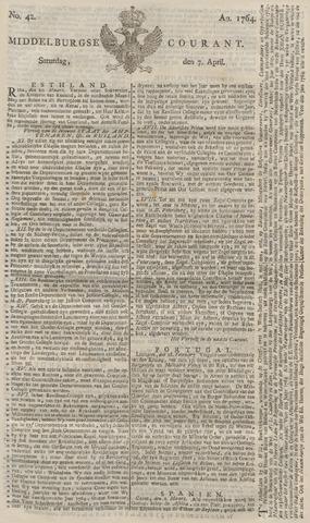 Middelburgsche Courant 1764-04-07