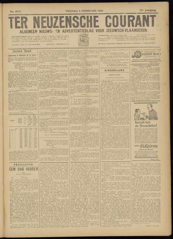 Ter Neuzensche Courant. Algemeen Nieuws- en Advertentieblad voor Zeeuwsch-Vlaanderen / Neuzensche Courant ... (idem) / (Algemeen) nieuws en advertentieblad voor Zeeuwsch-Vlaanderen 1932-02-05