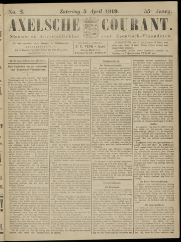 Axelsche Courant 1919-04-05
