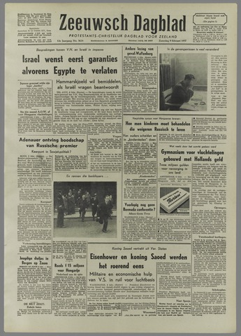 Zeeuwsch Dagblad 1957-02-09