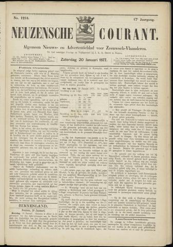 Ter Neuzensche Courant. Algemeen Nieuws- en Advertentieblad voor Zeeuwsch-Vlaanderen / Neuzensche Courant ... (idem) / (Algemeen) nieuws en advertentieblad voor Zeeuwsch-Vlaanderen 1877-01-20