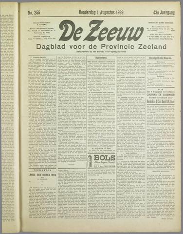 De Zeeuw. Christelijk-historisch nieuwsblad voor Zeeland 1929-08-01