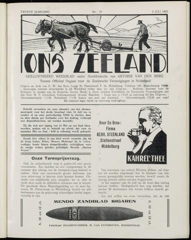 Ons Zeeland / Zeeuwsche editie 1927-07-09
