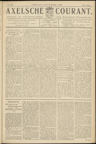 Axelsche Courant 1933-11-03