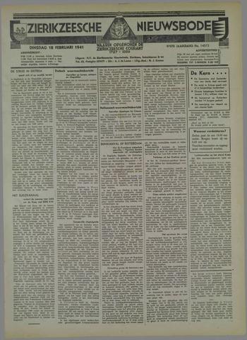 Zierikzeesche Nieuwsbode 1941-02-18