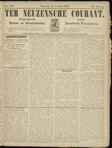 Ter Neuzensche Courant. Algemeen Nieuws- en Advertentieblad voor Zeeuwsch-Vlaanderen / Neuzensche Courant ... (idem) / (Algemeen) nieuws en advertentieblad voor Zeeuwsch-Vlaanderen 1883-02-21