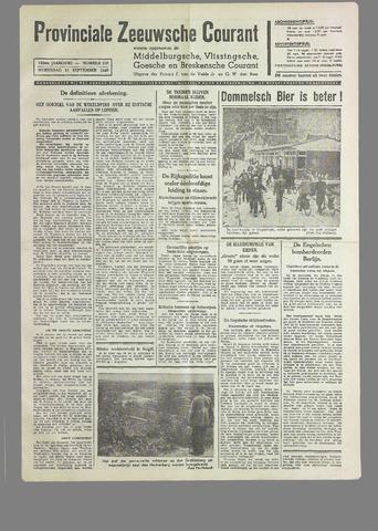 Provinciale Zeeuwse Courant 1940-09-11