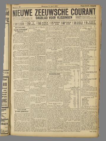 Nieuwe Zeeuwsche Courant 1923-04-16