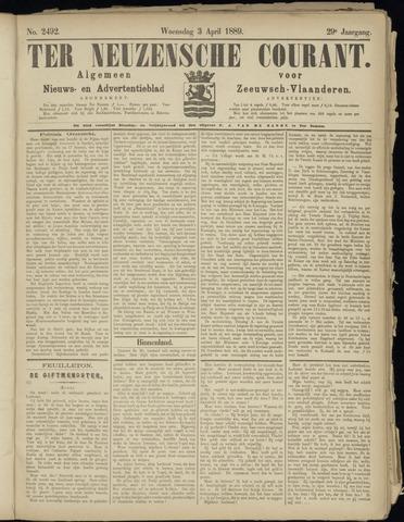 Ter Neuzensche Courant. Algemeen Nieuws- en Advertentieblad voor Zeeuwsch-Vlaanderen / Neuzensche Courant ... (idem) / (Algemeen) nieuws en advertentieblad voor Zeeuwsch-Vlaanderen 1889-04-03