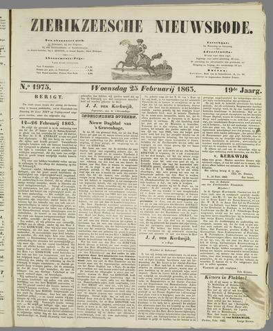 Zierikzeesche Nieuwsbode 1863-02-25
