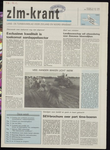 Zeeuwsch landbouwblad ... ZLM land- en tuinbouwblad 1993-07-16