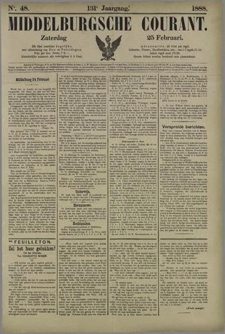 Middelburgsche Courant 1888-02-25