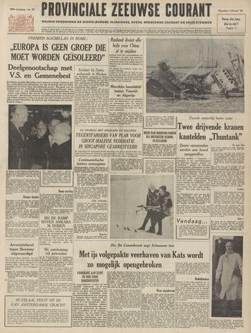 Provinciale Zeeuwse Courant 1963-02-04