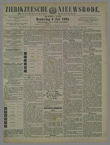 Zierikzeesche Nieuwsbode 1905-07-06