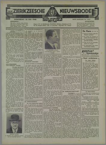Zierikzeesche Nieuwsbode 1940-07-25