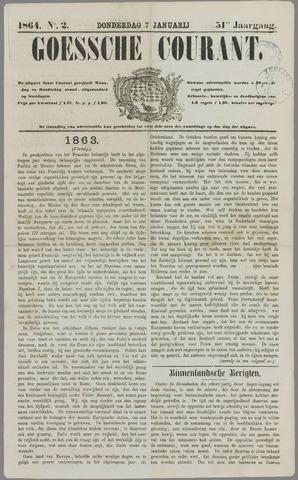 Goessche Courant 1864-01-07