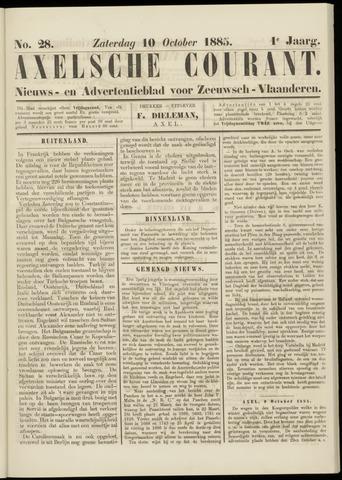 Axelsche Courant 1885-10-10