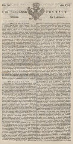 Middelburgsche Courant 1763-08-06
