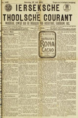 Ierseksche en Thoolsche Courant 1912-07-27
