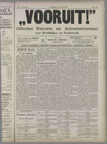"""""""Vooruit!""""Officieel Nieuws- en Advertentieblad voor Overflakkee en Goedereede 1911-07-19"""