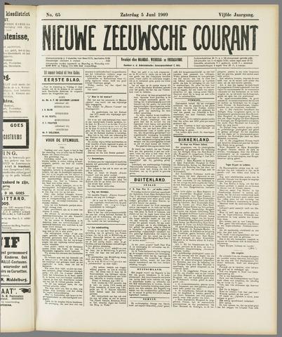 Nieuwe Zeeuwsche Courant 1909-06-05