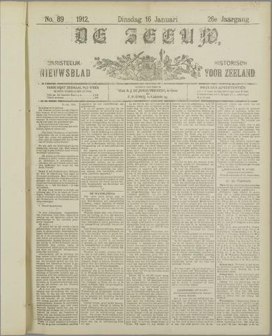 De Zeeuw. Christelijk-historisch nieuwsblad voor Zeeland 1912-01-16