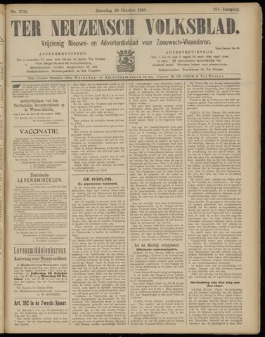 Ter Neuzensch Volksblad. Vrijzinnig nieuws- en advertentieblad voor Zeeuwsch- Vlaanderen / Zeeuwsch Nieuwsblad. Nieuws- en advertentieblad voor Zeeland 1916-10-28