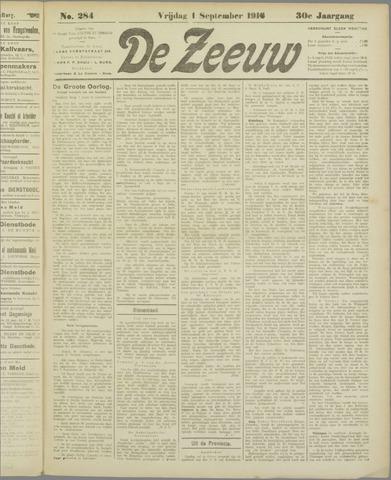 De Zeeuw. Christelijk-historisch nieuwsblad voor Zeeland 1916-09-01
