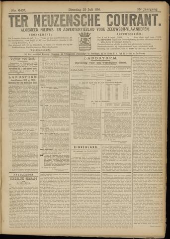 Ter Neuzensche Courant. Algemeen Nieuws- en Advertentieblad voor Zeeuwsch-Vlaanderen / Neuzensche Courant ... (idem) / (Algemeen) nieuws en advertentieblad voor Zeeuwsch-Vlaanderen 1916-07-25