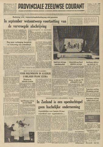Provinciale Zeeuwse Courant 1958-07-04