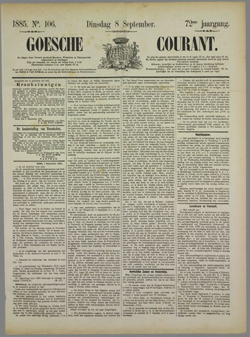 Goessche Courant 1885-09-08