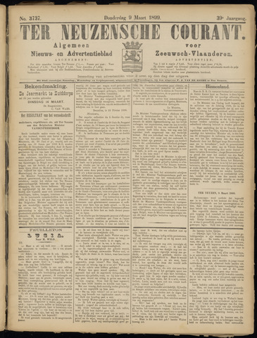 Ter Neuzensche Courant. Algemeen Nieuws- en Advertentieblad voor Zeeuwsch-Vlaanderen / Neuzensche Courant ... (idem) / (Algemeen) nieuws en advertentieblad voor Zeeuwsch-Vlaanderen 1899-03-09