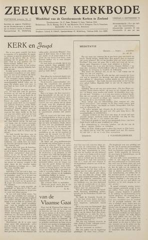 Zeeuwsche kerkbode, weekblad gewijd aan de belangen der gereformeerde kerken/ Zeeuwsch kerkblad 1959-09-11