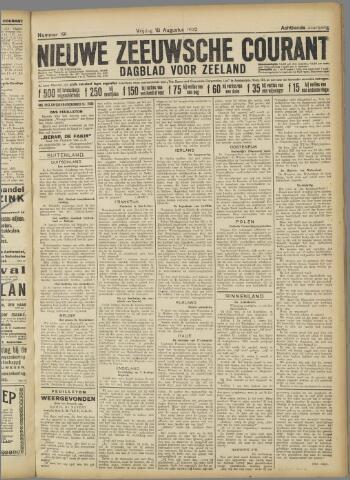 Nieuwe Zeeuwsche Courant 1922-08-18