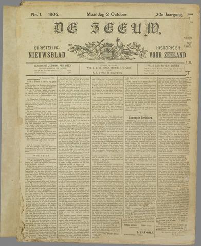 De Zeeuw. Christelijk-historisch nieuwsblad voor Zeeland 1905
