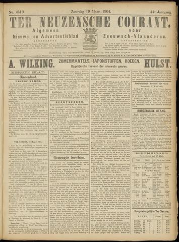 Ter Neuzensche Courant. Algemeen Nieuws- en Advertentieblad voor Zeeuwsch-Vlaanderen / Neuzensche Courant ... (idem) / (Algemeen) nieuws en advertentieblad voor Zeeuwsch-Vlaanderen 1904-03-19
