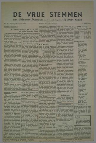Vrije Stemmen van Schouwen-Duiveland, tevens mededeelingenblad Militair Gezag 1945-08-18