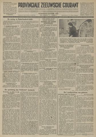 Provinciale Zeeuwse Courant 1942-02-25