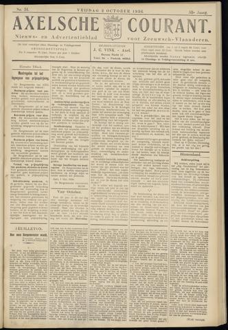 Axelsche Courant 1936-10-02