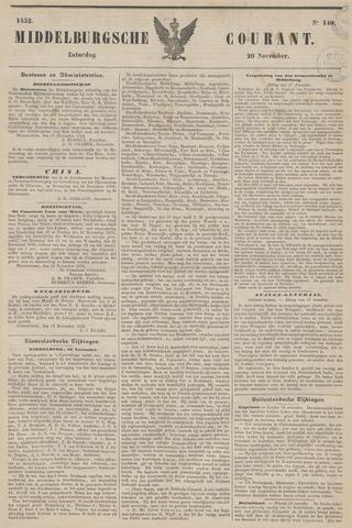 Middelburgsche Courant 1852-11-20