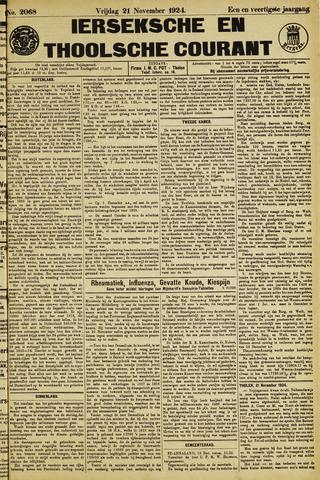 Ierseksche en Thoolsche Courant 1924-11-21