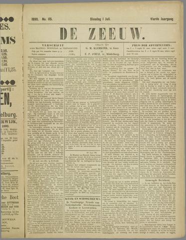 De Zeeuw. Christelijk-historisch nieuwsblad voor Zeeland 1890-07-01