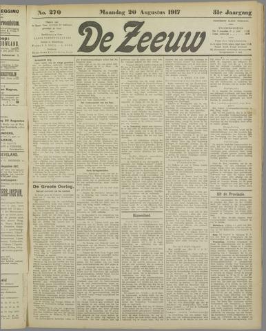 De Zeeuw. Christelijk-historisch nieuwsblad voor Zeeland 1917-08-20