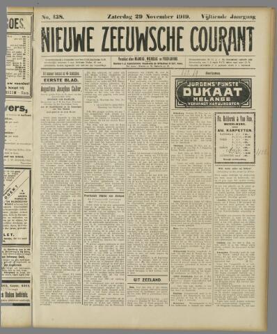 Nieuwe Zeeuwsche Courant 1919-11-29