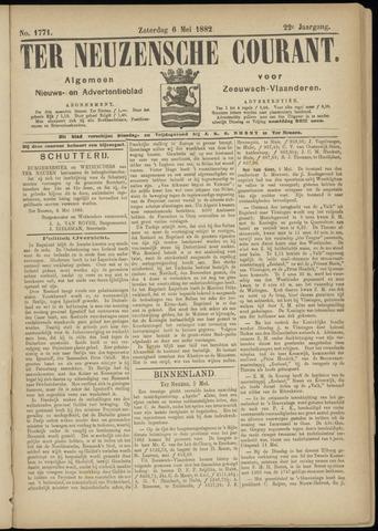 Ter Neuzensche Courant. Algemeen Nieuws- en Advertentieblad voor Zeeuwsch-Vlaanderen / Neuzensche Courant ... (idem) / (Algemeen) nieuws en advertentieblad voor Zeeuwsch-Vlaanderen 1882-05-06