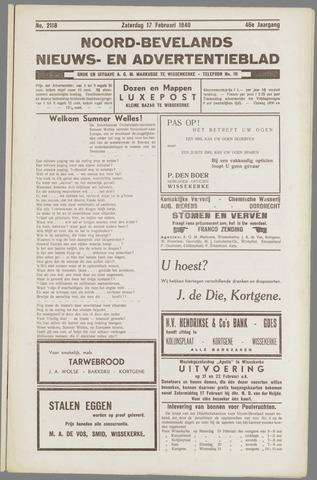 Noord-Bevelands Nieuws- en advertentieblad 1940-02-17