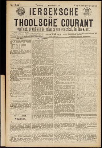 Ierseksche en Thoolsche Courant 1917-11-17